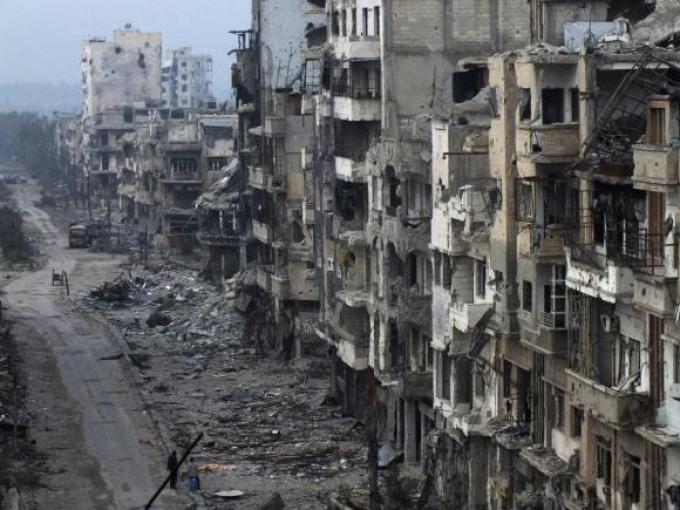 Die zerstörte Innenstadt von Homs im Januar 2014 (Quelle: Reuters)