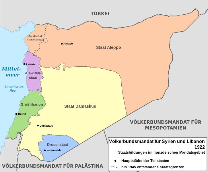 1922_Syrien_AufteilungDurchFrankreich_wikimedia.org