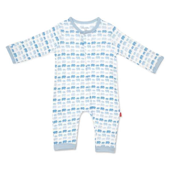 Magnetic Me Blue Dancing Elephants Coverall