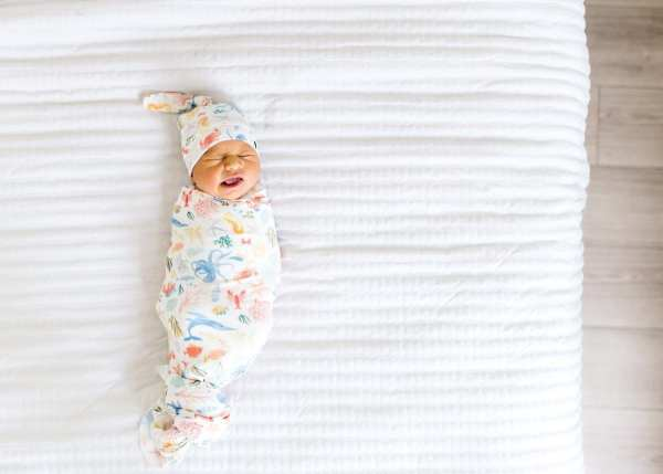 Copper Pearl Nautical Swaddle Blanket