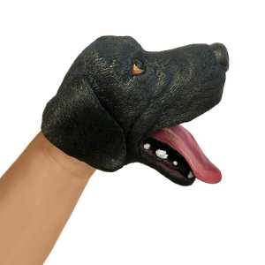 Schylling Black Dog Hand Puppet