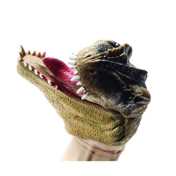 Schylling Brown Dino Hand Puppet