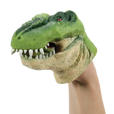 Schylling Green Dino Hand Puppet