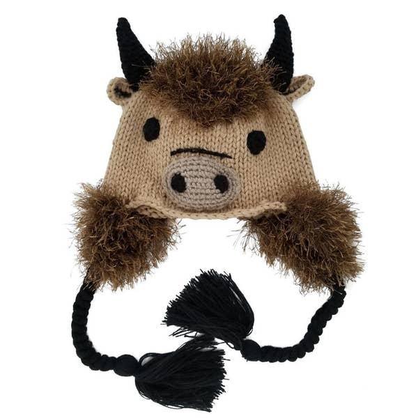 Huggalugs Buffalo Earflap Beanie Hat