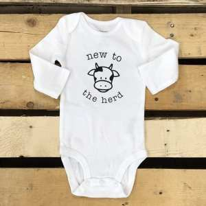 Jena Bug Infant Long-Sleeve Bodysuit New to the Herd
