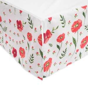 Little Unicorn Percale Crib Skirt - Poppy