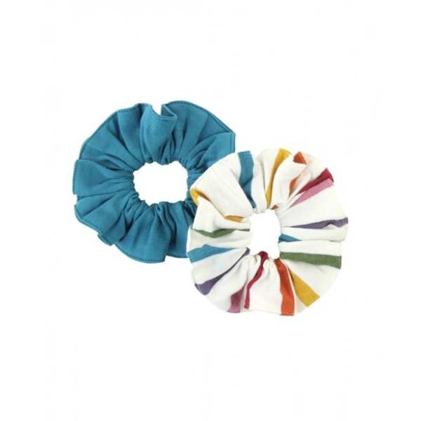 RuffleButts Harvest Rainbow Hair Scrunchies 2-Pack