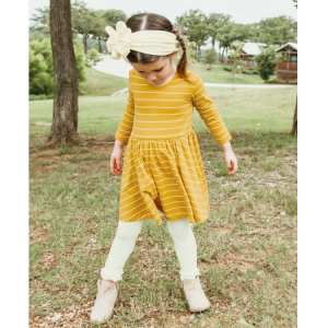 RuffleButts Ivory Footless Ruffle Tights