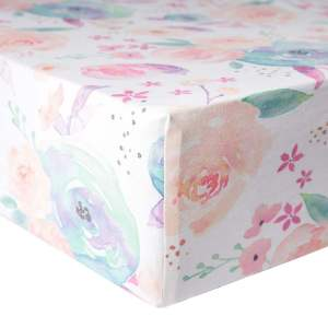 Copper Pearl Bloom Premium Knit Fitted Crib Sheet