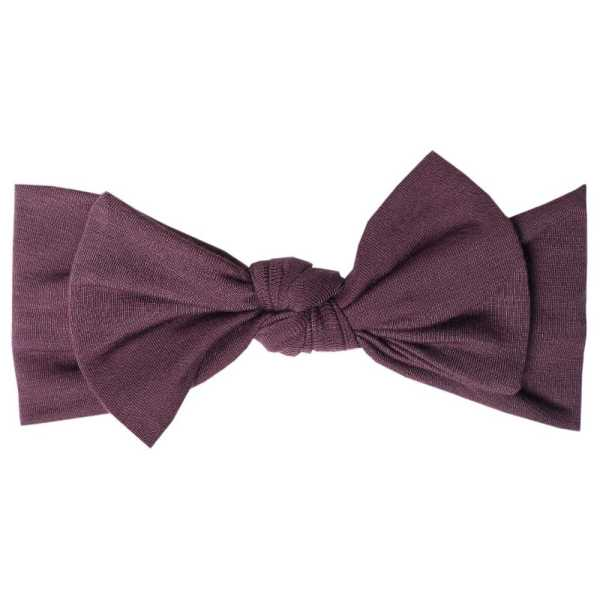 Copper Pearl Headband Bow Plum
