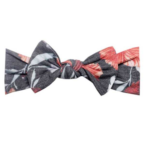 Copper Pearl Headband Bow Poppy