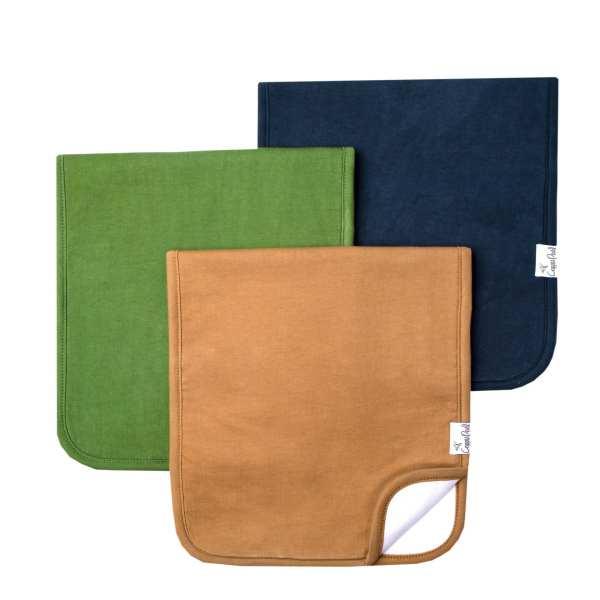 Copper Pearl Ridge Burp Cloth 3-Pack