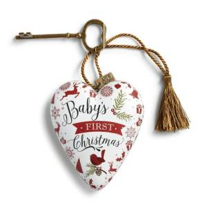 Demdaco Baby's First Christmas Art Heart Christmas Sculpture