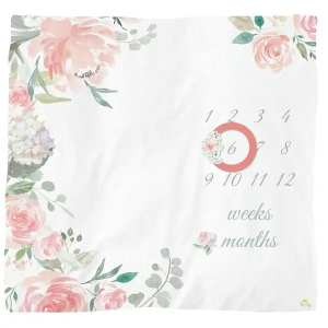 Itzy Ritzy Cutie Captures Floral Milestone Blanket