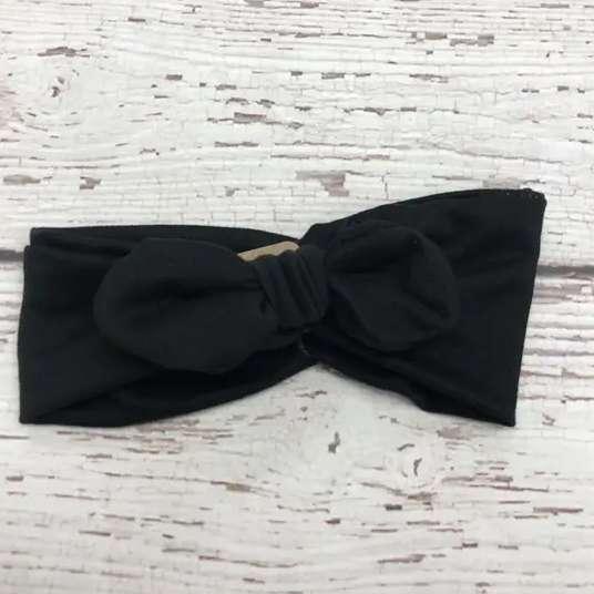 Jena Bug Knot Bow Headband - Black