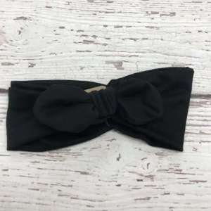 Jena Bug Knot Bow Headband - Black