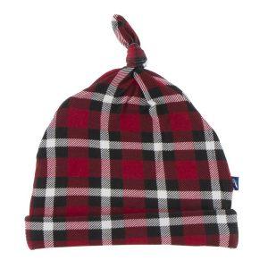 KicKee Pants Crimson Holiday Plaid Knot Hat