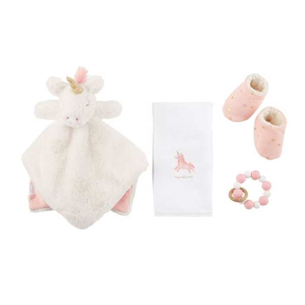 Mud Pie Unicorn Baby Essentials Set