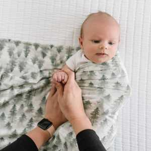Copper Pearl Evergreen Knit Swaddle Blanket