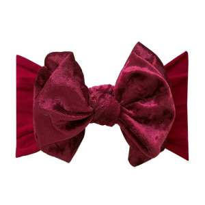 Baby Bling Fab-Bow-Lous VELVET - Crushed Ruby
