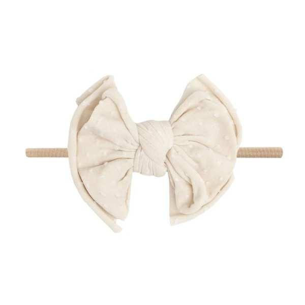 Baby Bling Shab-Bow-Lous SKINNY - Oatmeal Dot