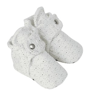 Robeez Snap Booties - Speckled White