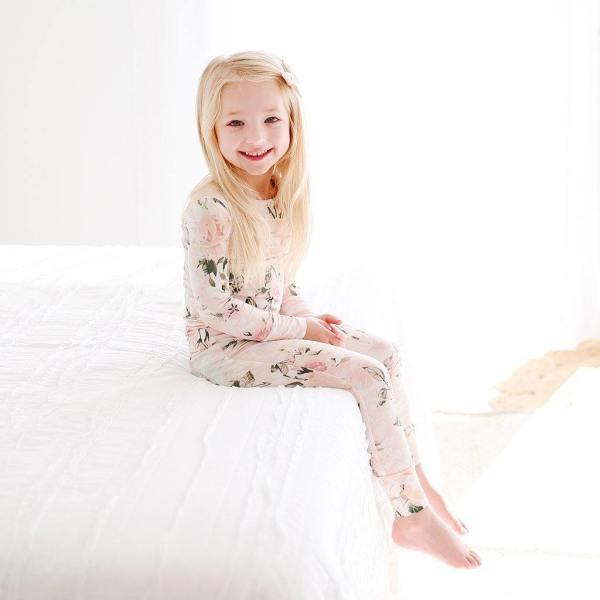 Posh Peanut Vintage Pink Rose Long Sleeve Pajama