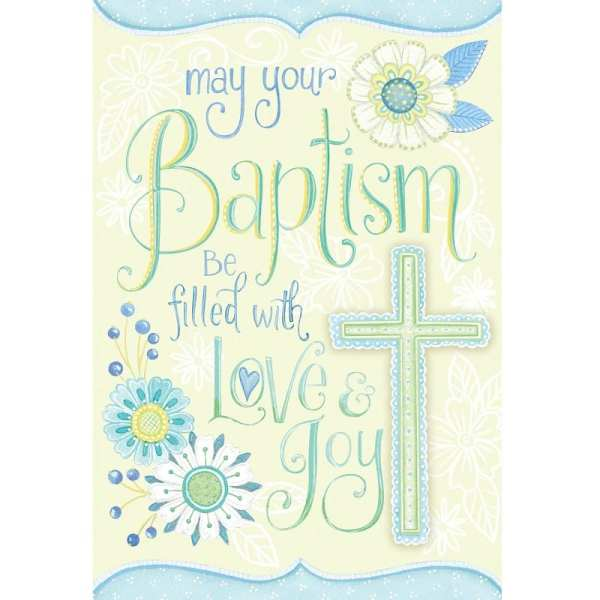 Card- May Your Baptism be Filled with Love & Joy