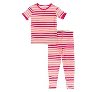 KicKee Pants Forest Fruit Stripe Short Sleeve Pajama Set