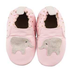 Robeez Soft Soles - Ella Elephant Pink