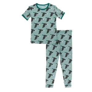KicKee Pants Jade Mallard Duck Short Sleeve Pajama Set