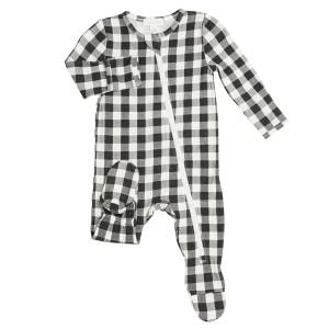 Angel Dear Gingham Black Footie