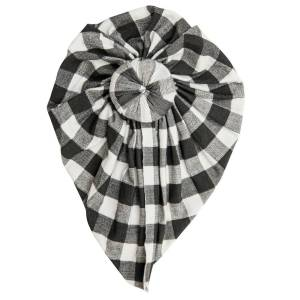 Angel Dear Gingham Black Headwrap