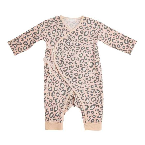 Angel Dear Pink Leopard Wrap Coverall
