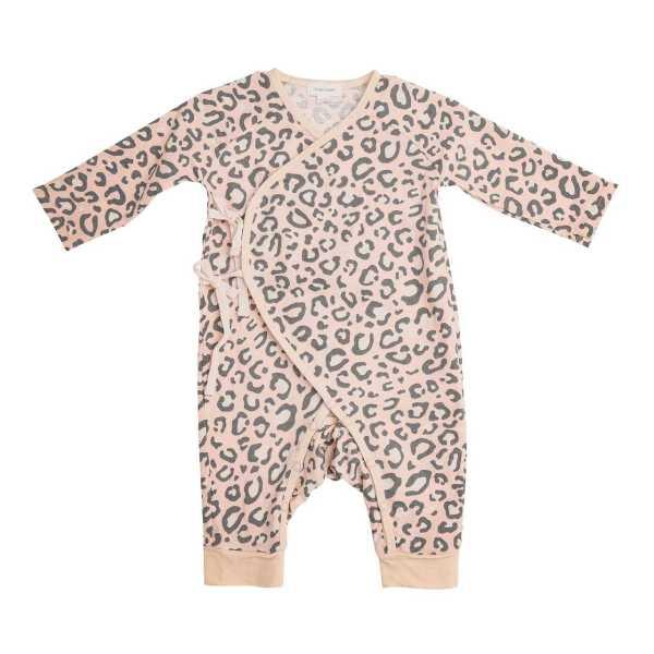 Angel Dear Pink Leopard Wrap Coverall