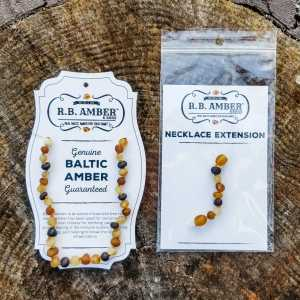 """Baltic Amber Necklace """"Grow With Me"""" Baby to Toddler - Raw Multi Color"""