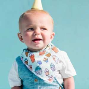 Copper Pearl Celebration Confetti Bandana Bib - Cake