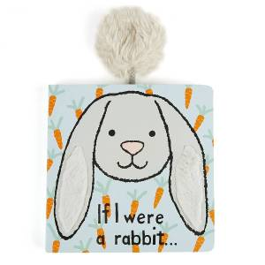 Jellycat If I Were A Rabbit Board Book - Gray