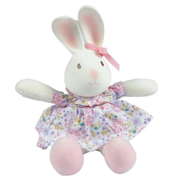 Tikiri Toys Havah the Bunny - Mini Rubber head Plush Toy