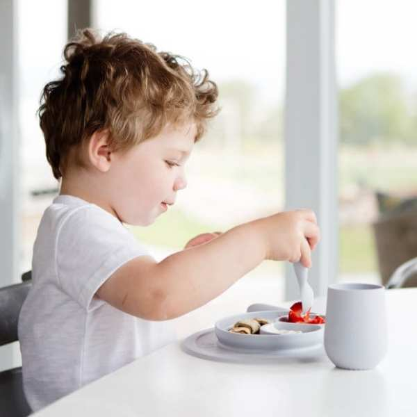 ezpz Mini Feeding Set - Pewter