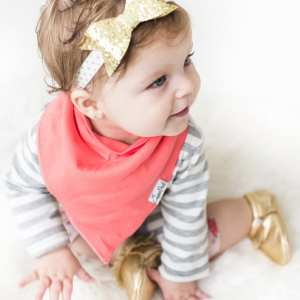 Copper Pearl Jewel Bandana Bib 4-Pack