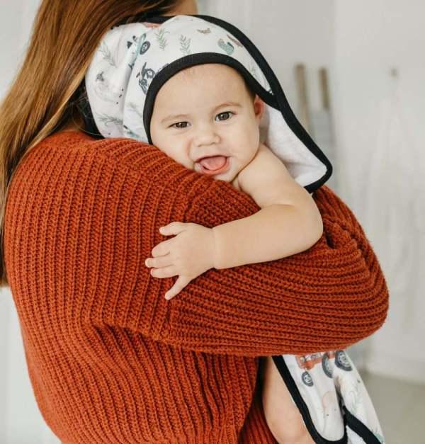 Copper Pearl Jo Knit Hooded Towel