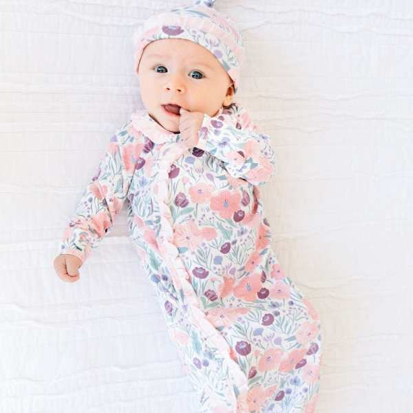 Magnetic Me Mayfair Organic Cotton Sack Gown and Hat Set