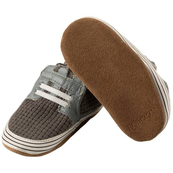 Robeez Soft Soles - Jude Soft Grey Leather