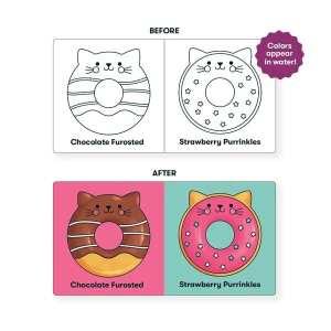 Cat Donuts Color Magic Bath Book