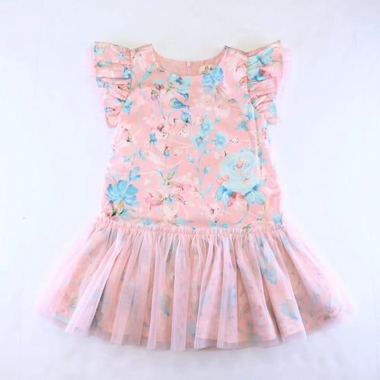 Doe a Dear Garden Floral Pink Dress