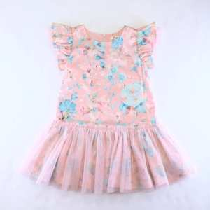 Doe a Dear Garden Floral Pink Dress