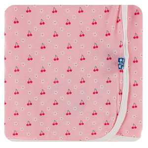 KicKee Pants Lotus Cherries and Blossoms Swaddle Blanket