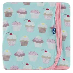 KicKee Pants Summer Sky Cupcakes Swaddle Blanket