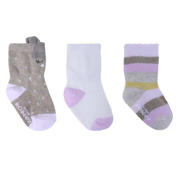 Robeez Socks Faye Pink 3-Pack